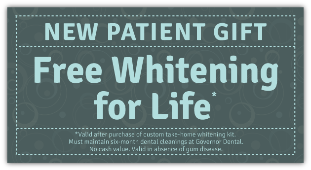 Free Teeth Whitening for Life - San Diego Dentist Governor Dental